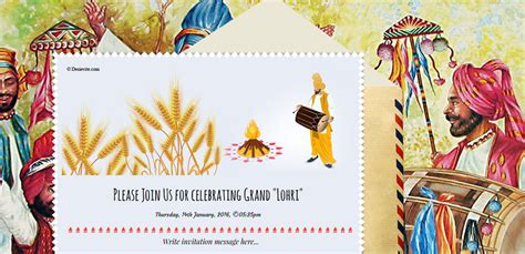 Free Lohri Invitation Card Online Invitations Lohri Invitation Templates