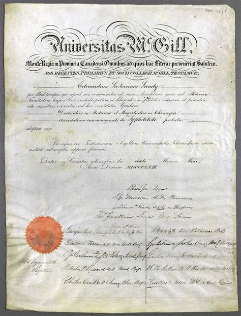 Mcgill Acceptance Letter thesis for medicine 100 original