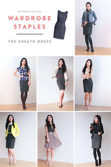 staples needed for hip wardrobe 2014 wardrobe staples styling a sheath dress extra petite