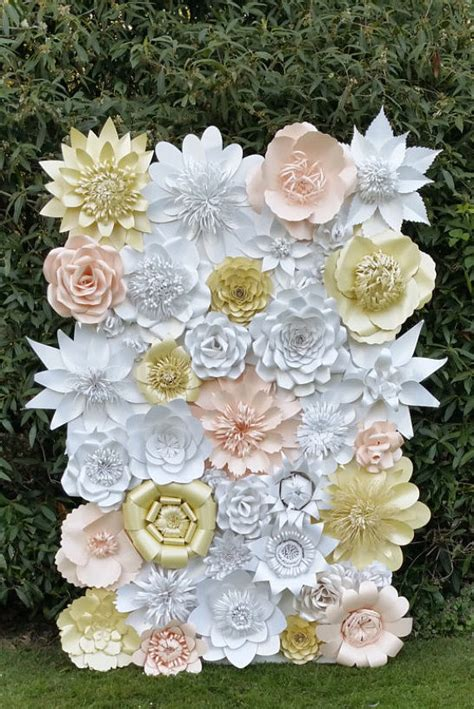 Make Paper Flowers Wedding - paper flower backdrop for weddings and events paper