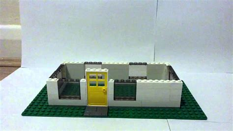 how to make a lego house how to build the wall for your small lego house youtube