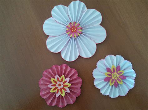 Paper Flowers For Scrapbooking - fiori di carta scrapbooking tutorial paper flowers or