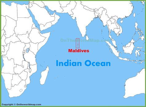 maldives location   indian ocean map