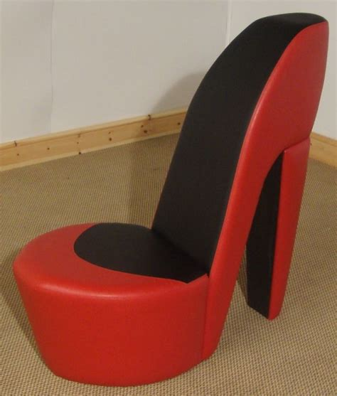 Stiletto Shoe Chairs by Black Shoe High Heel Stiletto Chair
