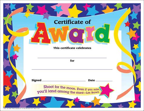 templates for school certificates award certificates printable award certificate templates