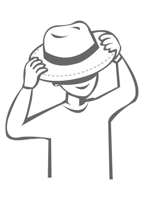 put on the coloring page to put on a hat img 22551