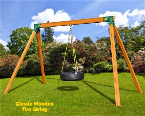 tire swing for swing set classic charlotte playsets wooden swing sets and