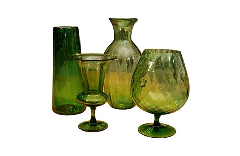 Assorted Glass Vases by Assorted Green Glass Vases Lorin Marsh Accessories Bowls And Vases
