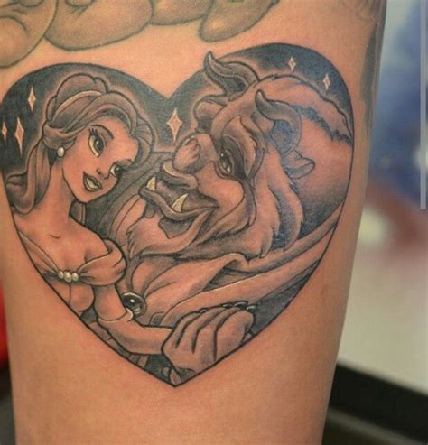beauty and the beast couple tattoo and the beast tattoos tattoos