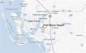 where is fort myers florida located on a map fort myers airport weather station record historical
