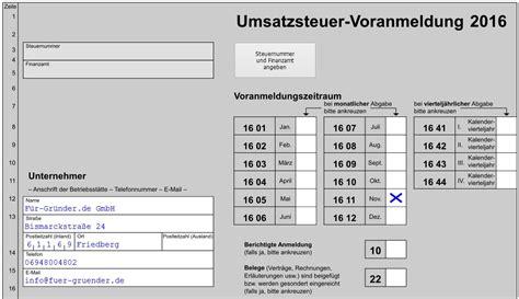 Muster Elster Formular Umsatzsteuervoranmeldung Per Elster Leitfaden Mit Tipps Tricks