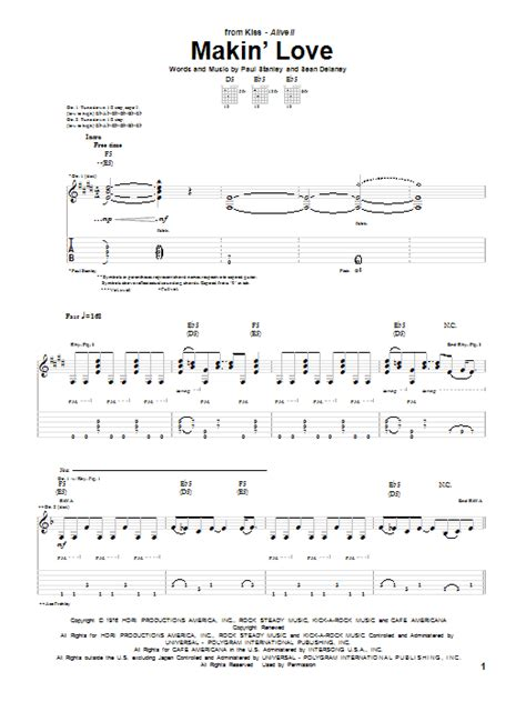 love theme kiss tab makin love by kiss guitar tab guitar instructor