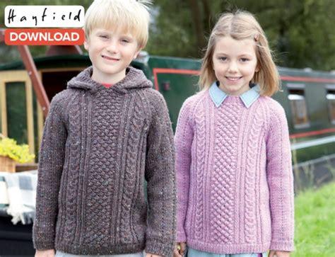 knitting for 5 year olds free hayfield raglan sweater pattern loveknitting