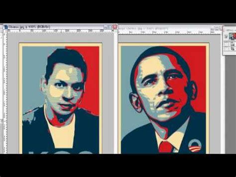 tutorial photoshop obama image gallery obama hope poster photoshop