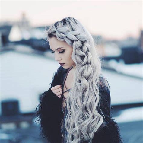 hairstyles if silver white hair accessory silver hair long hair braid hairstyles