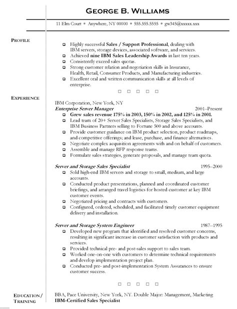 resume sle for server server resume free excel templates