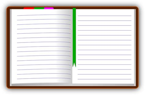 organizer diary book write notepad paper ruled