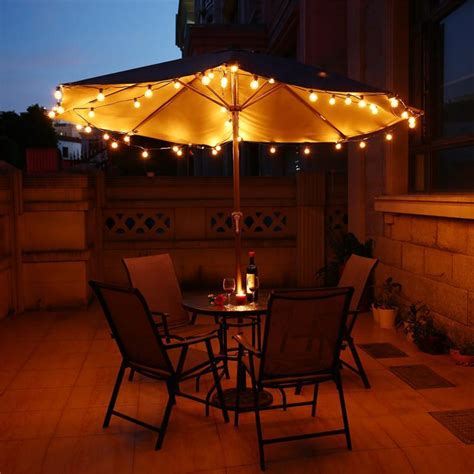 Vintage Patio String Lights 25ft Globe String Lights With 25 G40 Bulbs Vintage Patio Garden Light String For Deco Outdoor