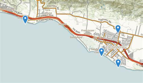 carpinteria california map best trails near carpinteria california alltrails