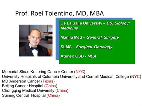 Md Mba Facs Suffix by Cancer Obesity And Nutrition Roel Tolentino