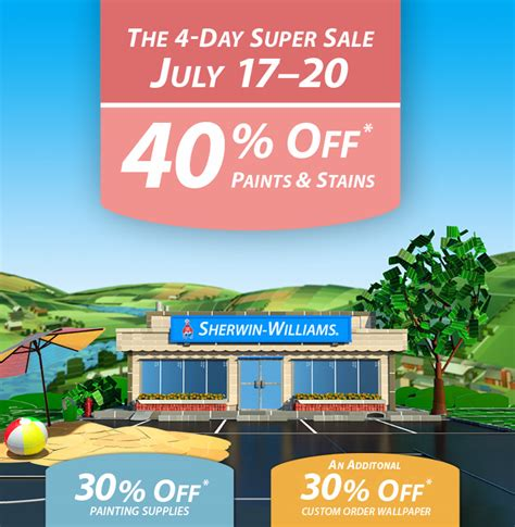 Sherwin Williams Gift Cards For Sale - 40 off paints stains or 30 off painting supplies custom order wallpaper at