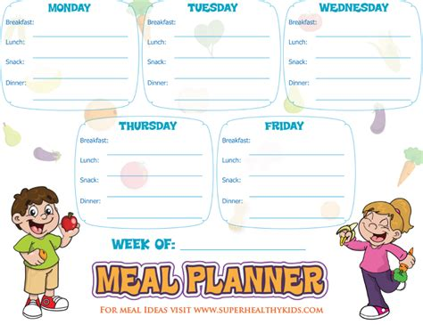 Galerry free printable menu plans