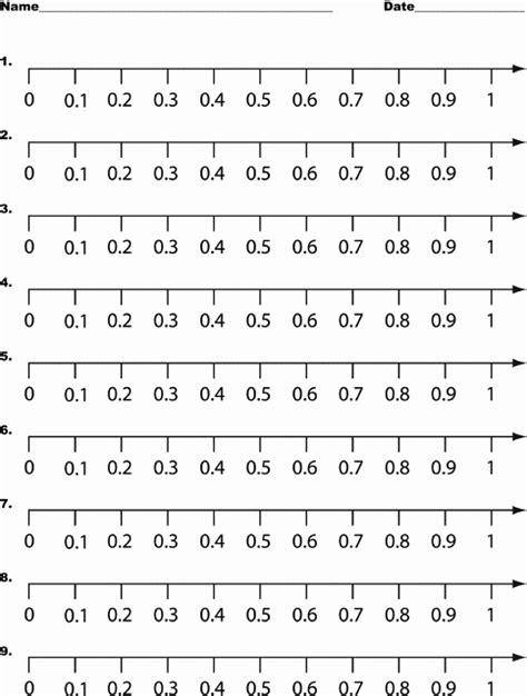 printable number line tenths number names worksheets 187 tenths worksheet free
