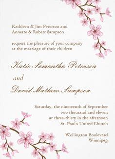 Cherry Blossom Wedding Invitation Weddings Pinterest Cherry Blossom Invitation Template