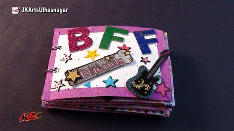 crafts for friends easy basic scrapbook idea for friendship day jk craft