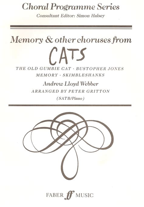 al cats memory songs from cats memory et al peter gritton