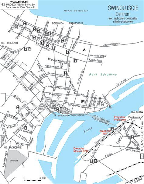 Plan Images by Winoujcie Mapa Noclegi Www Polskiewybrzeze Pl