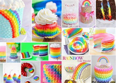 Cake Decoration At Home by A Roundup Of Rainbow Cake Tutorials My Cake
