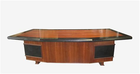 monteverdi executive desk with leather