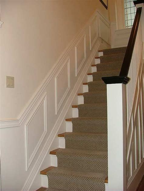 wainscoting panels up stairs wall paneled wainscoting on stairs wainscoting