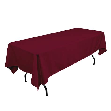 108 tablecloth on 60 table polyester tablecloth 60 quot x 108 quot burgundy prestige linens
