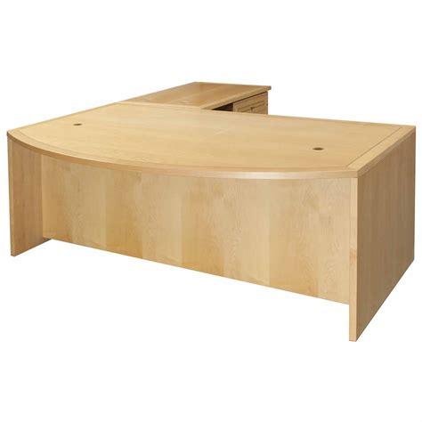 maple desk jesper used l shape bow front right return desk maple