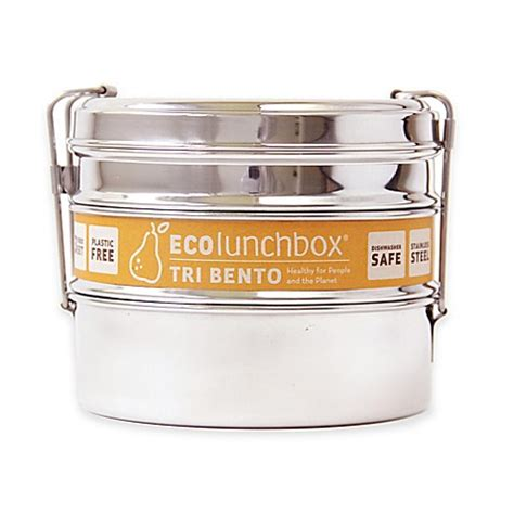 bed bath and beyond containers ecolunchbox tri bento 3 tier food container set in