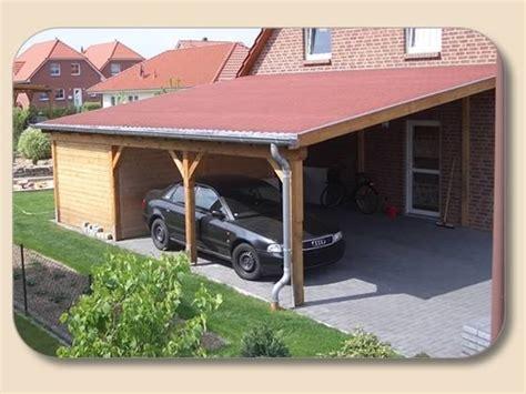 doppelcarport bauen doppelcarport pultdach selber bauen als anlehn