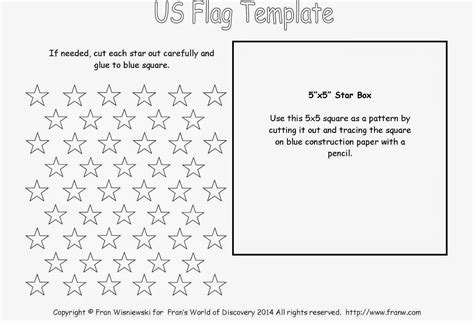 template of usa flag funschooling recreational learning united states flag