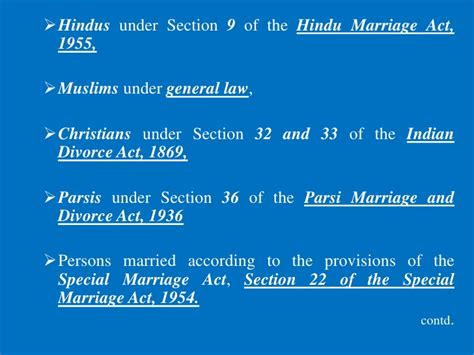 section 9 of hindu marriage act 1955 restitution of conjugal rights a comparative study among