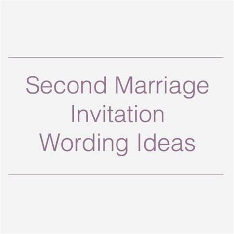 Wedding Quotes Second Marriage by Second Wedding Invitations Wedding Invitation Wording And