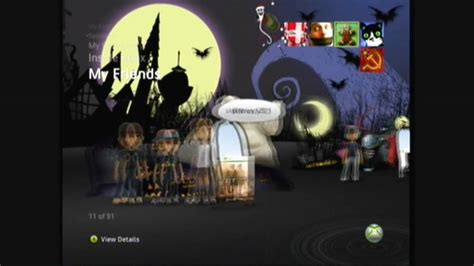 xbox live themes preview a nightmare before christmas xbox 360 premium theme