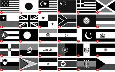 flags of the world green white black black and white flags of the world pictures to pin on