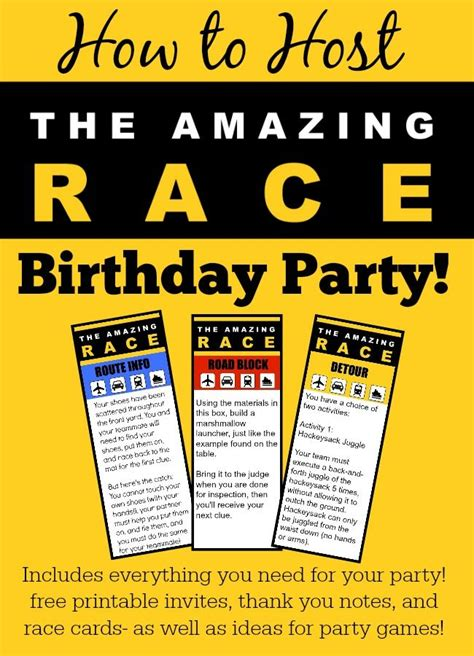 amazing race birthday templates 25 best ideas about amazing race on