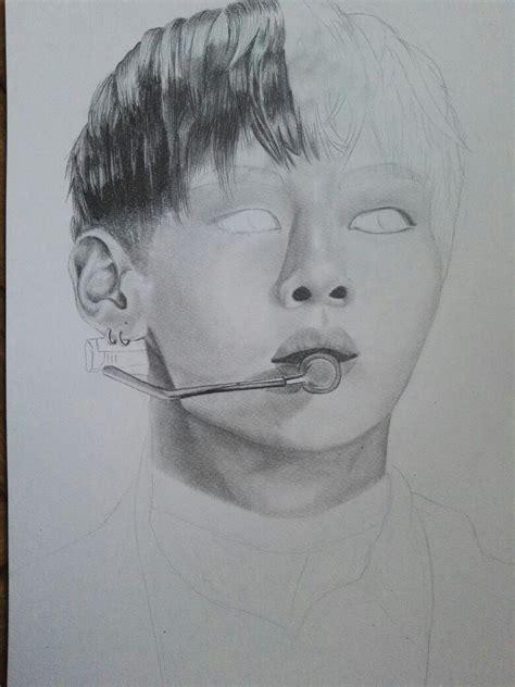 V Drawing Bts by Bts V Fanart Taehyung Pencil Drawing Bts V
