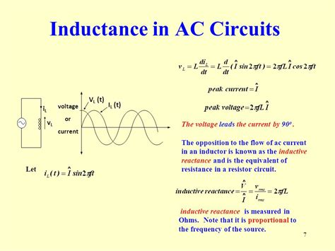 inductor current voltage equation eee107 ac circuits ppt