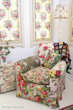country cottage armchairs floral fabric mix why don t we do something like this