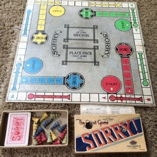 awesome printable board games free 1930 s sorry game board and pieces awesome vintage