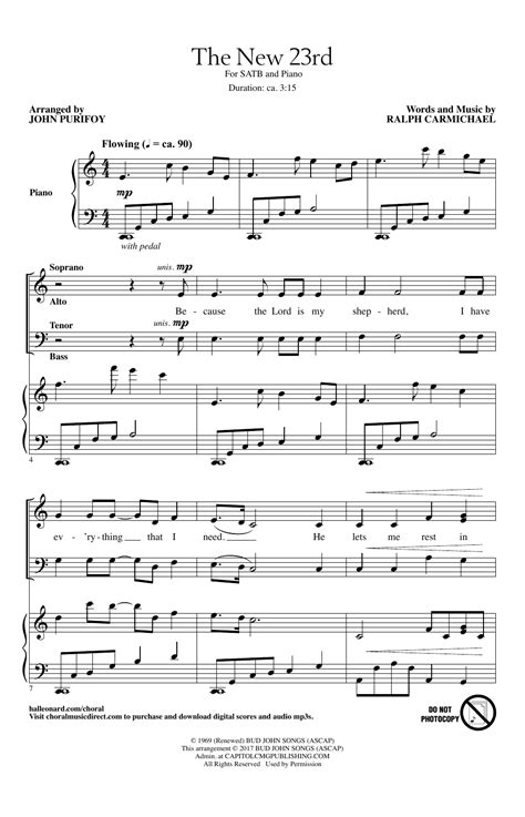 A Place Sheet Ralph Carmichael The New 23rd Choral Satb Sheet By By Purifoy Satb 191147
