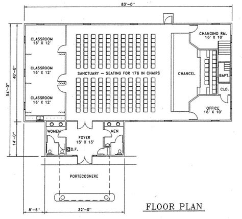 church designs and floor plans church plan 127 lth steel structures